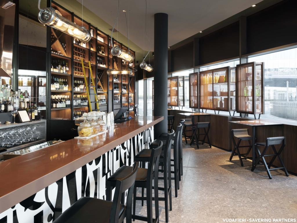 Peck restaurant, bar and deli. Courtesy of Vudafieri-Saverino Partners.