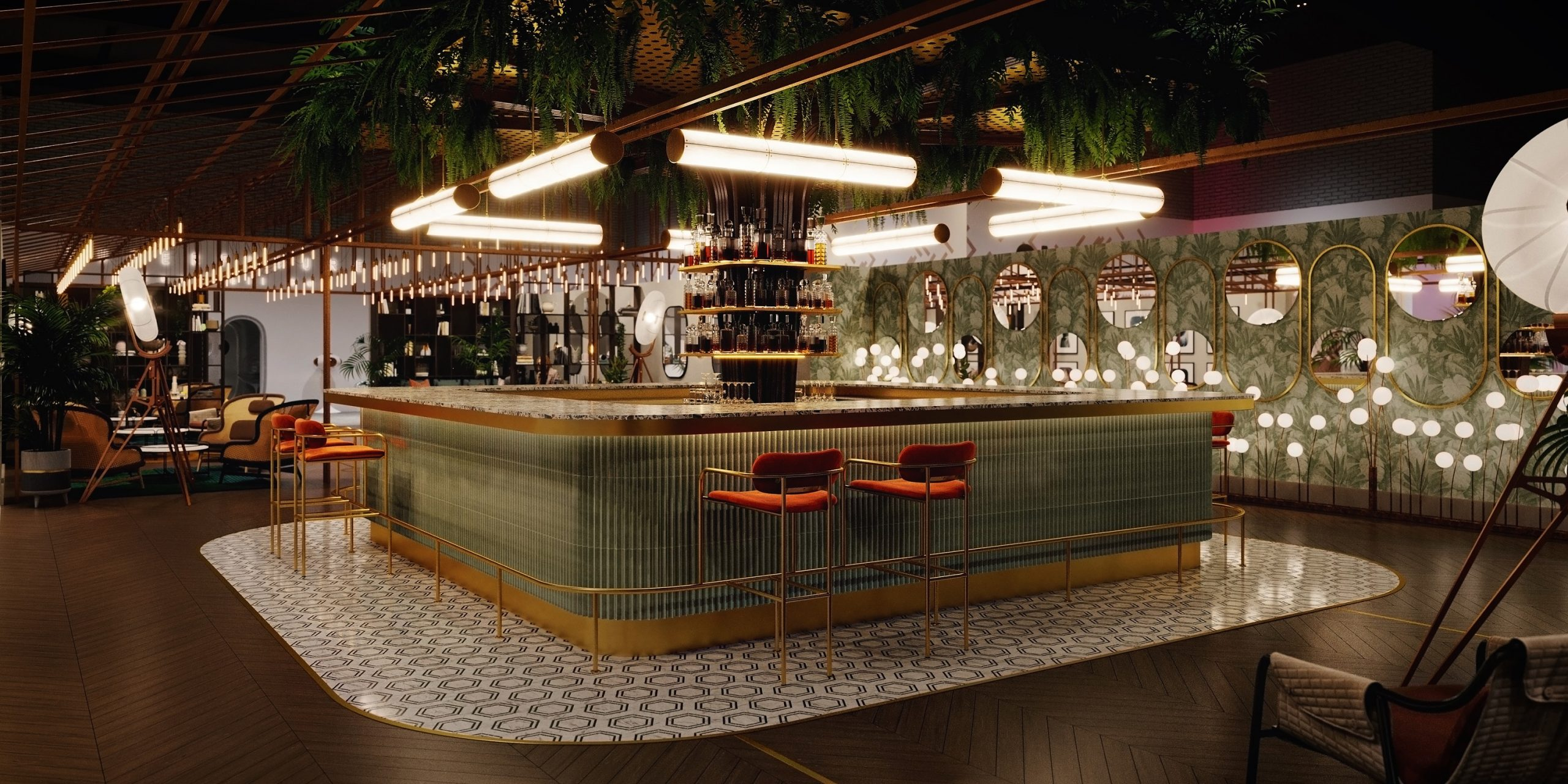 Sleep + Eat: Virtual Tour of the Event Lounge Bar Designed by Atellior