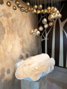 Marble Wall MM Gallery, PHI Sculpture by Lasvit & Isabelle Miaja, Outside View - Elevation Set, by Sophia Smith Miaja Design Group